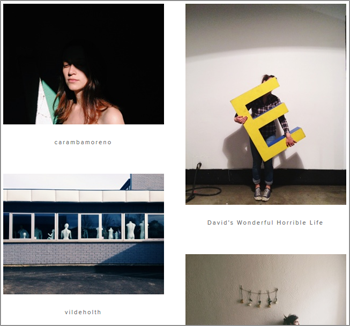 VSCOs website features the same feed and grid that can be viewed using the companys app.