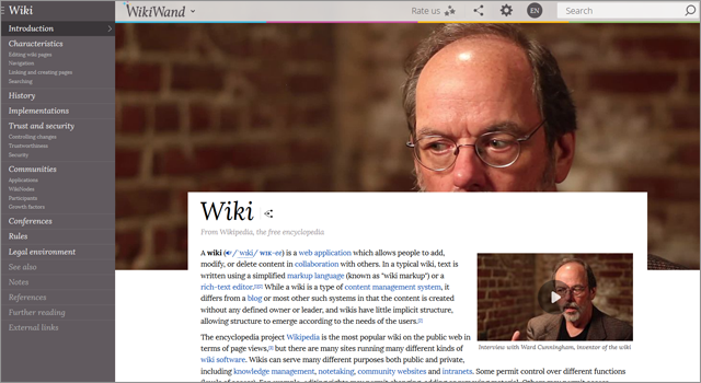 If you cant stand the outdated look of Wikipedia, WikiWand is superior in many aspects.