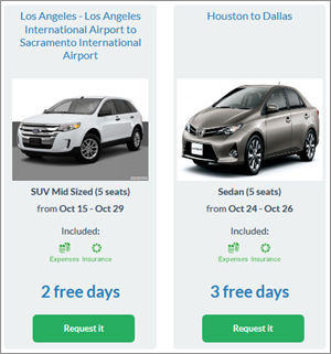 With Transfercar, there's the opportunity to rent a car without paying anything at all.