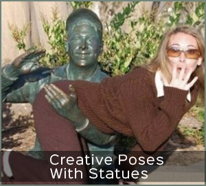 10 Hilarious and Creative Poses With Statues