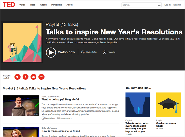 If Those Resolutions Aren't what Your Looking For, Try These TED-Inspired Resolutions!