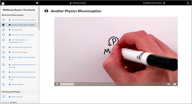 60-Minute Physics is an online course that plays off our increasingly shortened attention spans by delivering fun, informative video lessons that are each one minute long.
