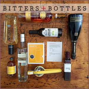 Bitters + Bottles is a cocktail subscription box service that helps you build your home bar and learn how to use it.