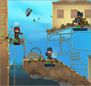On Epic Time Pirates you play space pirates who travel through time to fight in an epic battle against zombies, monks, other pirates and more.