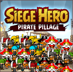 Siege Hero - Pirate Pillage, is a fun strategic shooting flash game where you save your kingdom by bombing the dreadful pirates with your cannon.