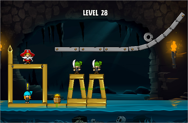 Siege Hero - Pirate Pillage is a good game for this genre, offering the perfect balance between easy going and challenging levels.
