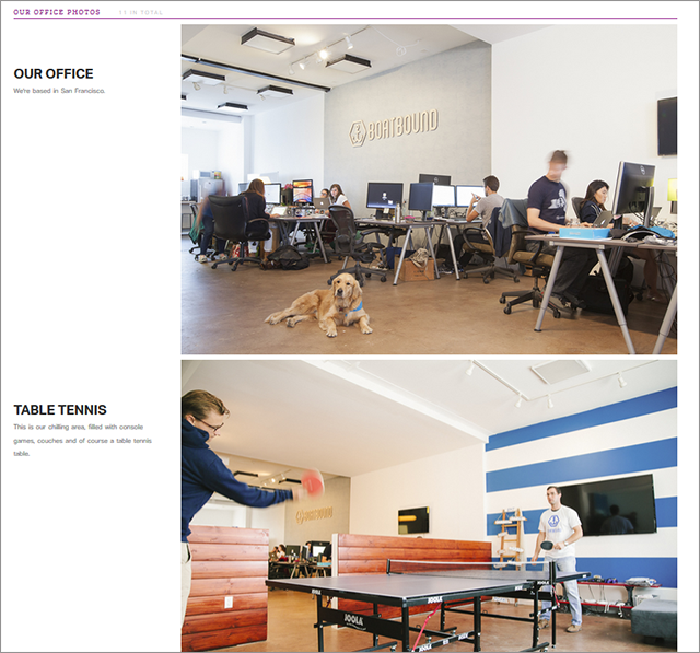 The offices featured on OfficeFetish range in size and scope, from small startup companies to large, well-funded companies.