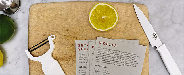 The order in which Bitters + Bottles sends types of liquor and added ingredients has been organized in a calculated way, intended to build upon itself on a monthly basis.