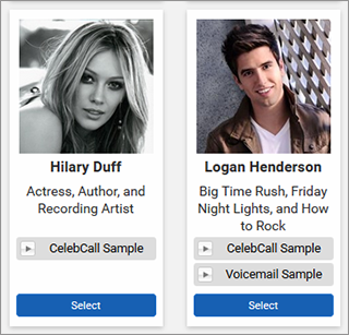 Celebrity Phone Messages - Soundboard.com - Create ...