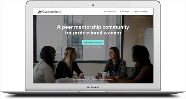 Glassbreakers is a professional network designed to help end gender inequality.