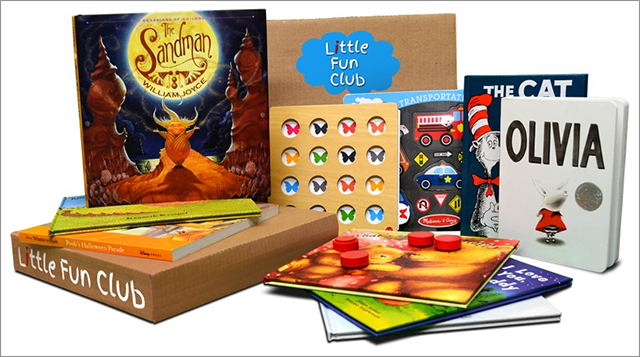For $25.00/month or $25.00/box, the site delivers three age-appropriate children books.