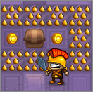 1 Screen Hero is a great action/puzzle flash game where you play a scavenging knight who tries to loot an ever changing dungeon.