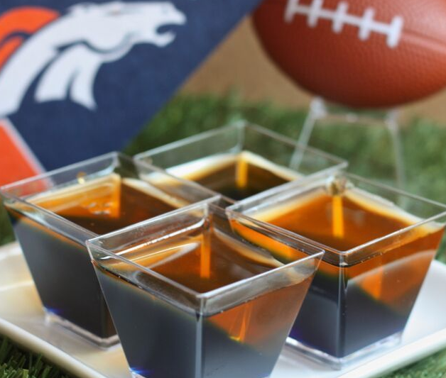 Bucking Denver Bronco jell-o shots