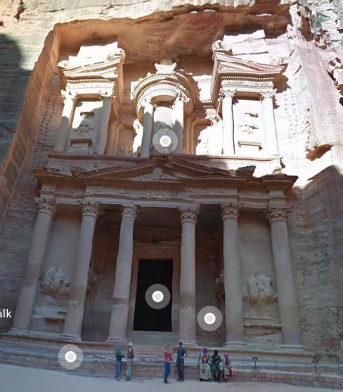 Google Street View: Petra
